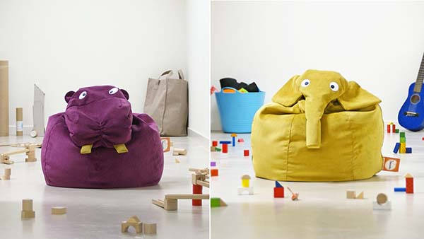 Handmade Animal Bean Bags from ilSaccotto