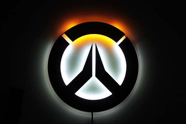 Handmade Overwatch Wall Mounted Rgb Led Light Gadgetsin