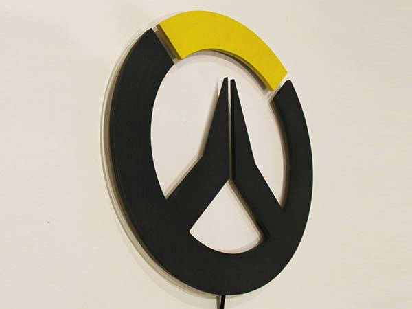 Handmade Overwatch Wall Mounted RGB LED Light