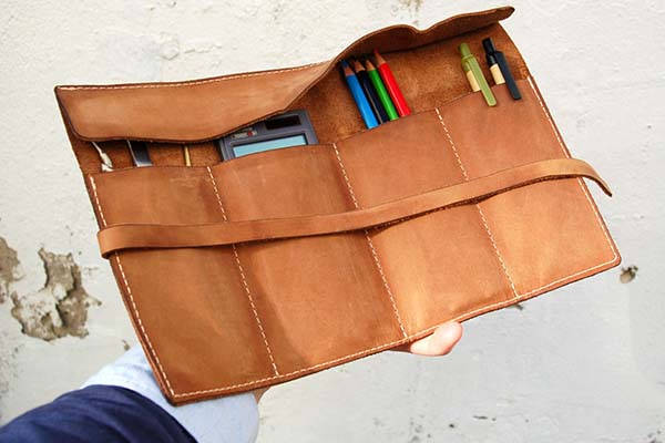 Handmade Personalized Leather Tool Roll