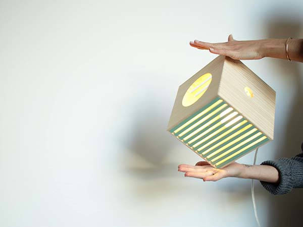 Handmade Portable Wooden Lamp