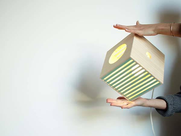 Handmade Portable Wooden Lamp