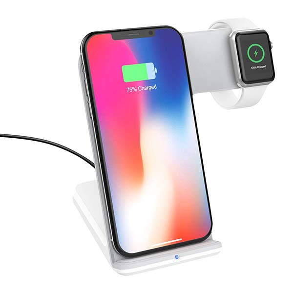 Moko Fast Qi Wireless Charging Stand for iPhone and Apple