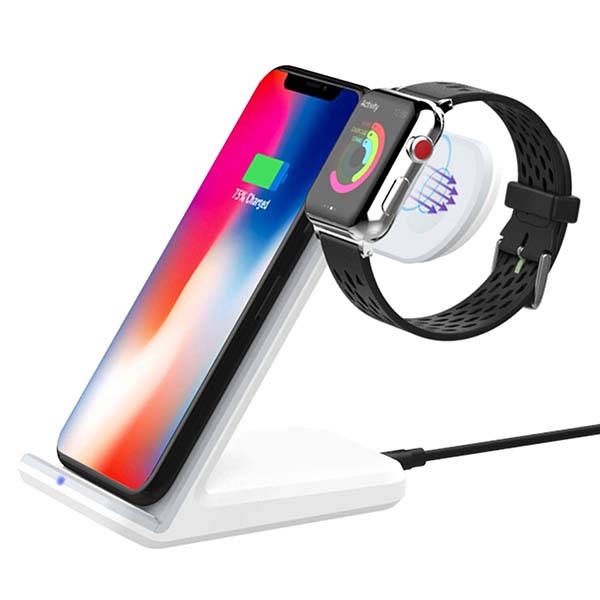 Moko Fast Qi Wireless Charging Stand for iPhone and Apple Watch