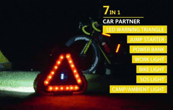 Trilight Pro 7-In-1 Jump Starter with LED Working Light