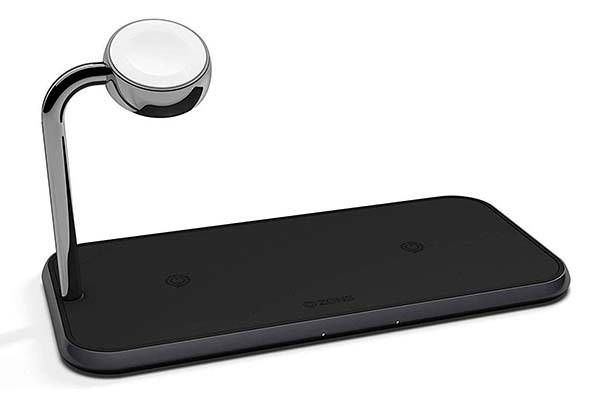 Zens Dual 10w Aluminum Wireless Charging Pad With Apple