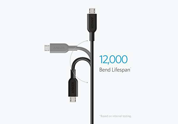 Anker Powerline II 3-In-1 Charging Cable with Lightning, USB-C and microUSB