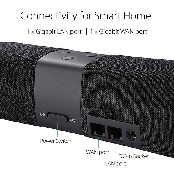 asus lyra voice smart speaker with alexa and mesh wifi router gadgetsin. Black Bedroom Furniture Sets. Home Design Ideas