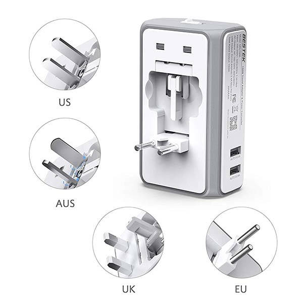 Bestek Travel Adapter Converter with Built-in Fuse