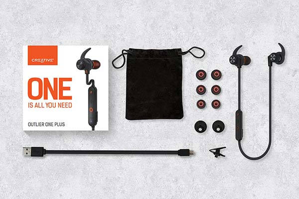 Creative Outlier One Plus Bluetooth Sports Earbuds with MP3 Player