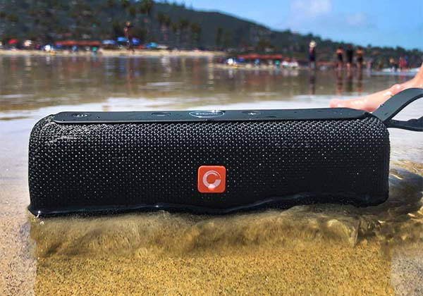 DOSS E-go II Portable Bluetooth Waterproof Speaker with MicroSD Card Slot
