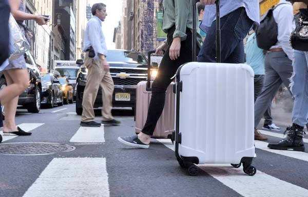 Genius Pack Supercharged Carry On Luggage with Removable Power Bank, 2 USB Ports and More