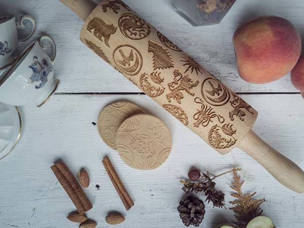 Handmade Game of Thrones Embossing Rolling Pin