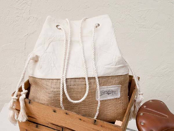 Handmade Jute Burlap Beach Bag