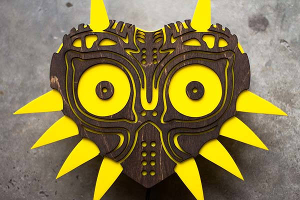 Handmade Legend of Zelda Majora's Mask Wall Lamp
