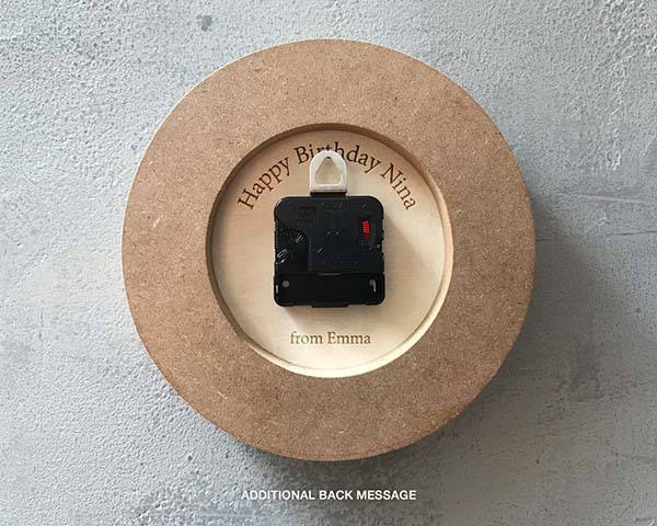 Handmade Petite Picasso Designer Personalized Wall Clock