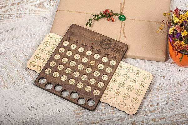Handmade Wooden Perpetual Calendar