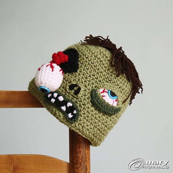 Handmade Zombie Inspired Crochet Beanie