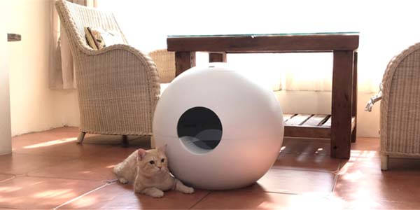 Janar Spherical Cat House and Litter Box with Spray Box