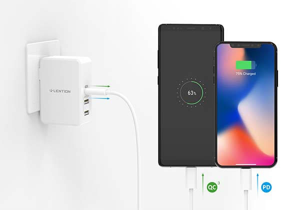 Lention USB-C Wall Charger with 45W Power Delivery