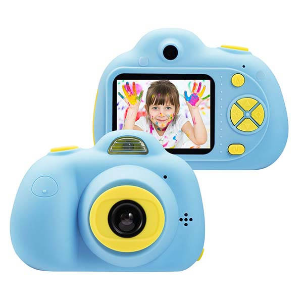 Omzer Shockproof Kids Camera with Front and Rear Lenses