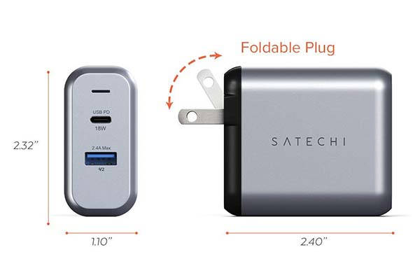 Satechi 30W Dual-Port USB Wall Charger