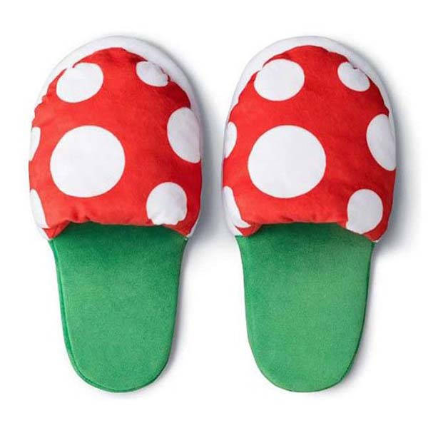 Super Mario Piranha Plant Slippers with a Warp Pipe Holder