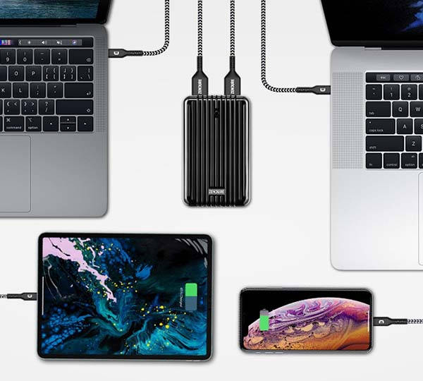SuperTank High-Capacity Power Bank with Dual USB-C PD and Dual USB-A Ports