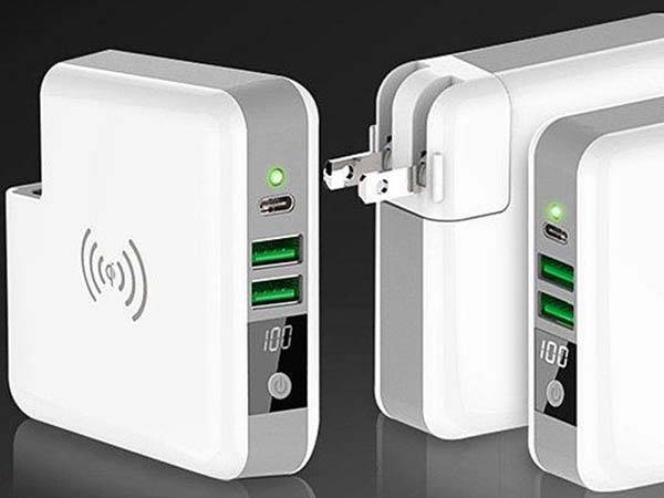The USB-C Wall Charger with Wireless Charging Pad and Power Bank