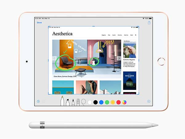 Apple 10.5-Inch iPad Air and 7.9-Inch iPad Mini with Apple Pencil Support