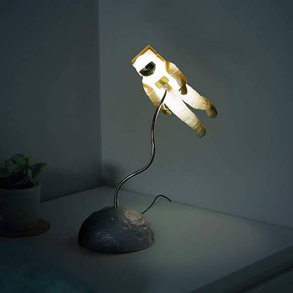 The Astronaut LED Mood Light with a Moon-Like Base