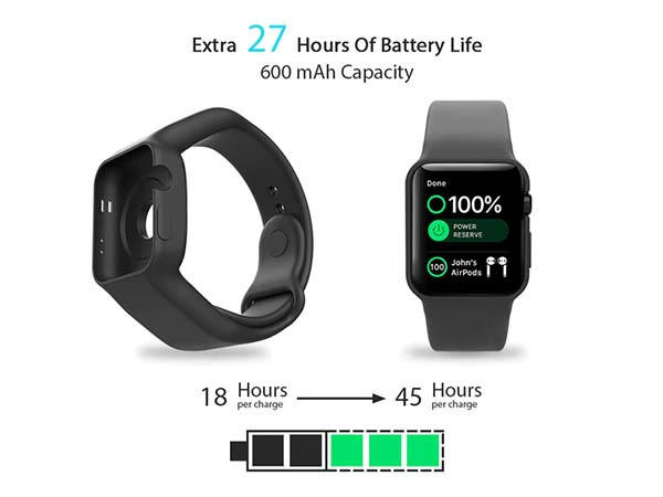Batfree Apple Watch Power Strap with Built-in Batteries