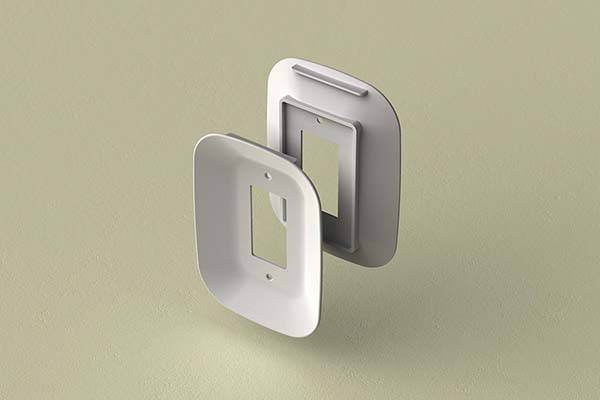Cable Cradle Wall Outlet Faceplate with Cable Organizer