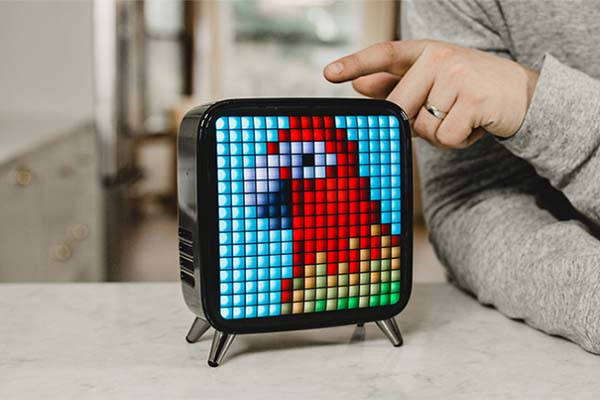 Divoom Tivoo-Max Portable Bluetooth Speaker with LED Pixel Art Canvas
