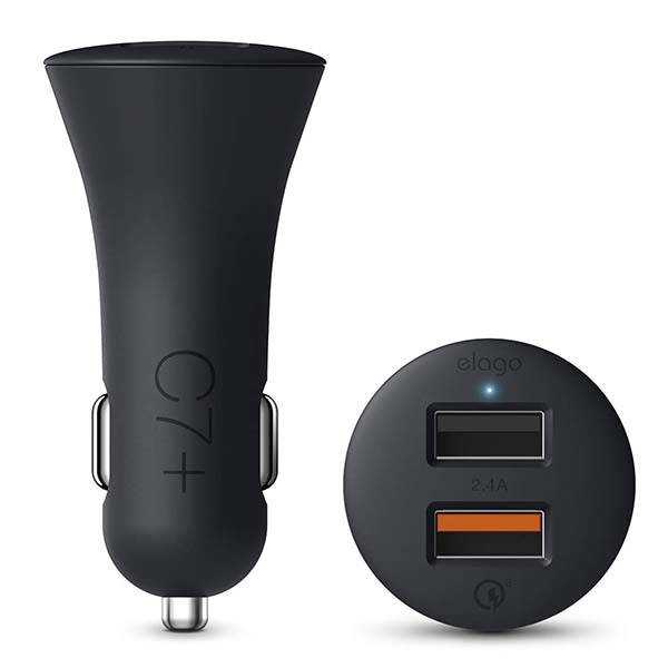 Elago C7+ Dual USB Car Charger with QC 3.0