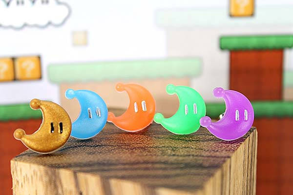 Handmade Mario Power Moon Earrings