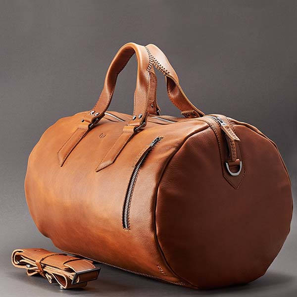 Handmade Personalized Leather Duffle Bag