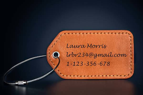 Handmade Personalized Leather Luggage Tag