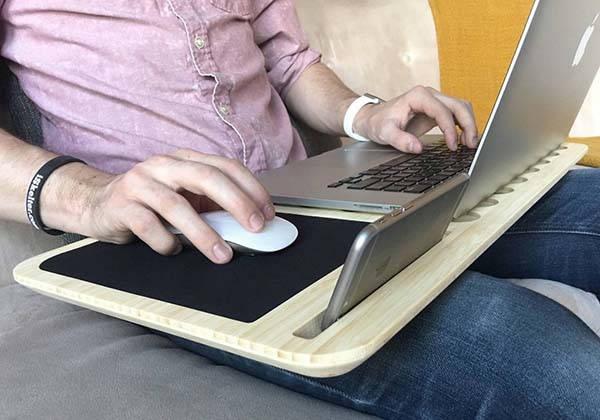 iSkelter Slate 2.0 Handmade Wooden Lap Desk