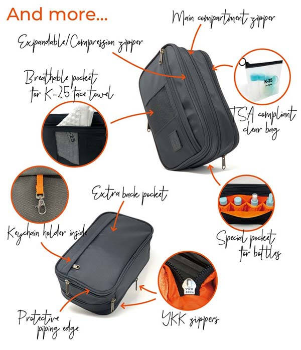 K-25 Expandable Toiletry Bag