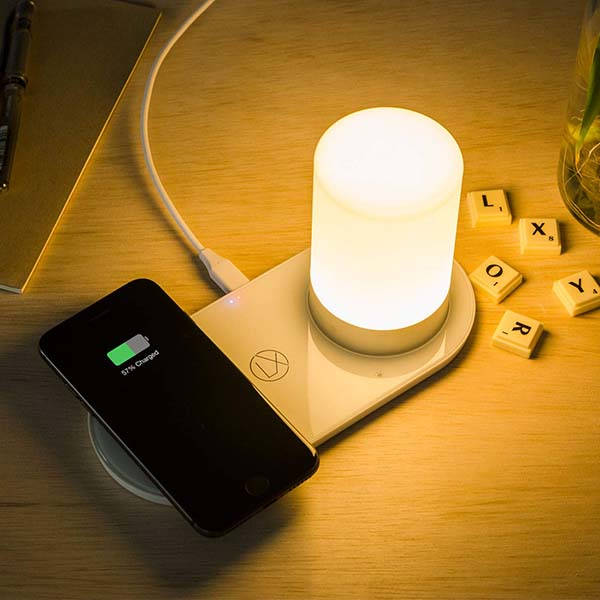 LXORY Wireless Charging Pad with LED Mood Lamp