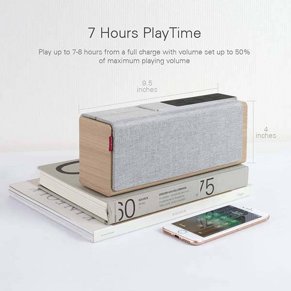 Mediasonic TEANA Sound Wooden Bluetooth Speaker