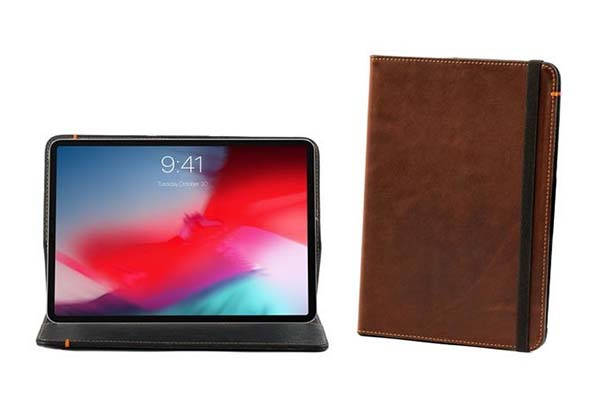 Pad&Quill Oxford Leather iPad Pro Case Compatible with Apple Keyboard Folio
