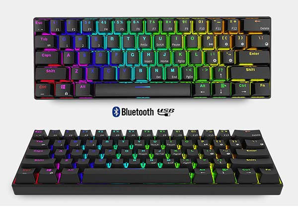 RK RK61 61-Key Compact Wireless Mechanical Keyboard