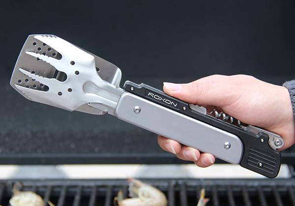 Roxon MBT3 6-In-1 BBQ Multi Tool with Spatula, Fork, Barbecue Tongs and More