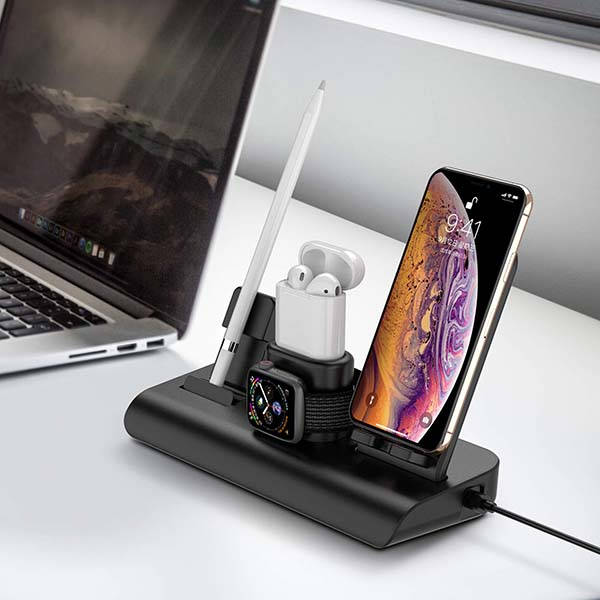 The 4-In-1 Wireless Charging Station with 3 USB Ports