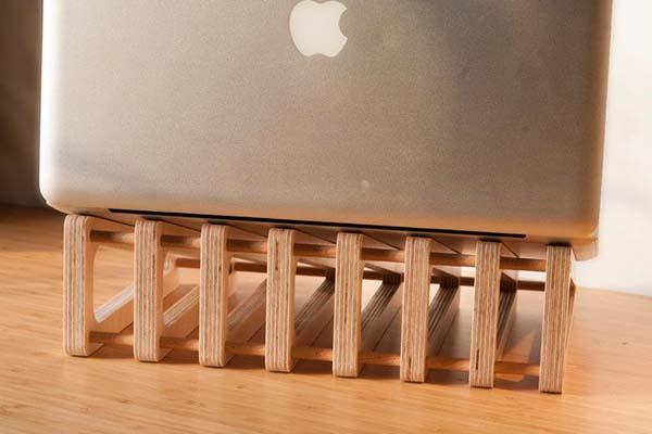 Torn Handmade Wooden Laptop Stand