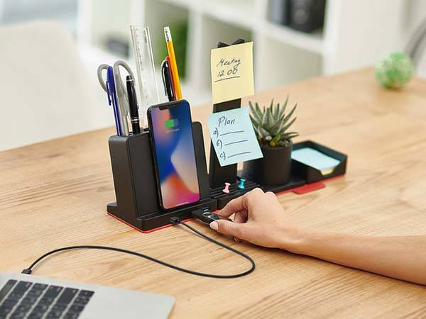 Transformer Wireless Charger with Desk Organizer and USB-C Hub