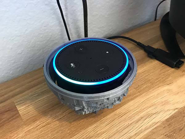 3D Printed Star Wars Death Star Echo Dot Holder