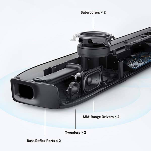 Anker Soundcore Infini Pro Bluetooth Soundbar with Dolby Atmos and Subwoofers
